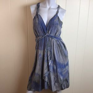 Banana Republic Blue/Black Flowy Summer Dress